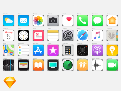 iOS 11 Icons Sketch Template update new apple 11 ios 11 ios photoshop sketch ux ui app