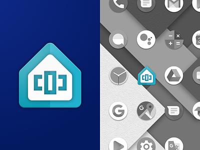 Flick Launcher Icon flick launcher flick branding sketch ui android redesign flat logo design material design material logo apple app icon design ios icon vector