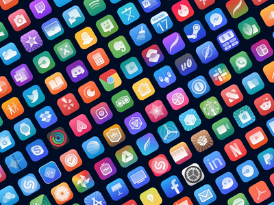 Aliquid ui illustration sketch material flat apple app icon design ios icon vector photoshop