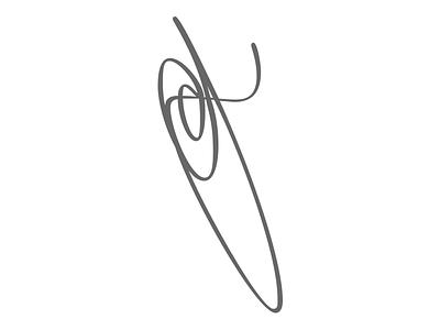 Monogram icon calligraphy typography branding ui design illustration