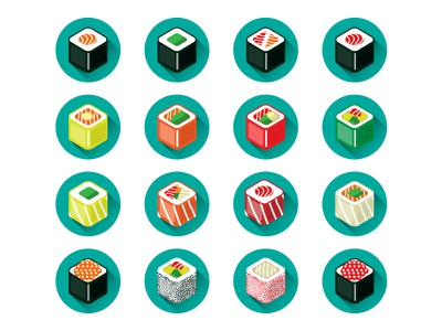 Sushii free rebound vector seafood sushi