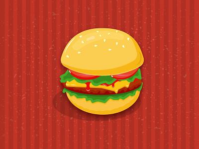 Burger free vector illustration fast food burger hamburger