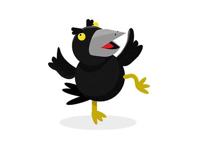Schwarzer Rabe vector illustration raven