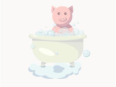 Piggy pig illustration vector