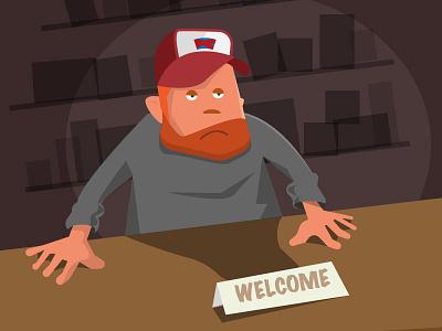 Friendly redneck redneck illustration vector