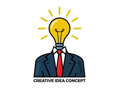 Idea idea light bulb vector illustration