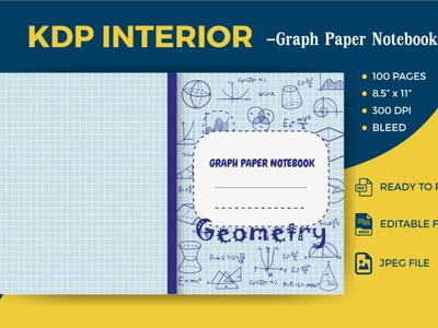 Graph Paper Notebook- KDP Interior graph paper notebook graph paper