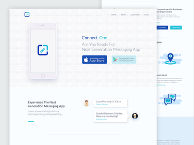 Connect One Landing Page