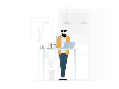 Developer types #2 office space office people illustration vector minimal