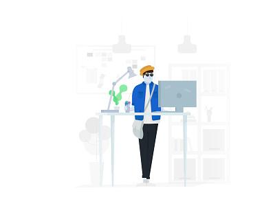 Developer types #4 people illustration people office illustration vector minimal