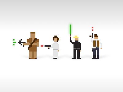 Big ass pixel pixel art pixelart pixel minimal illustration vector star wars art star wars day star wars starwars
