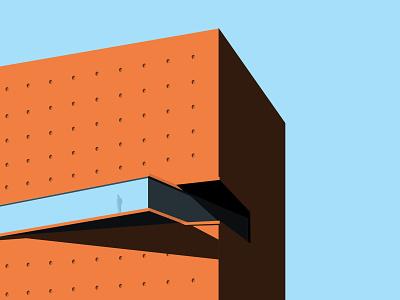 Quarantine days || Alone building solid architecture alone vector minimal