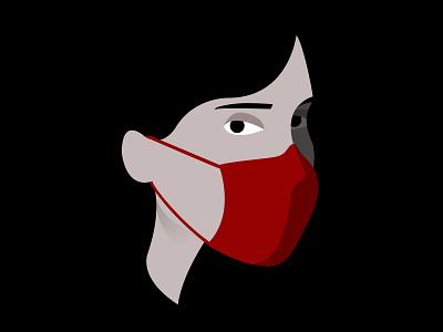 Quarantine days || Mask masks covid mask solid design vector minimal