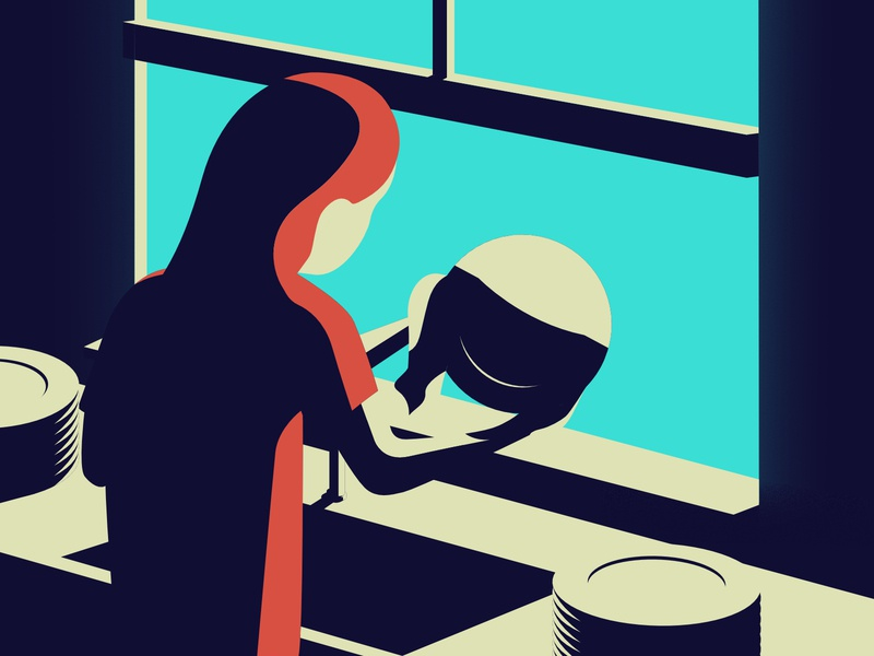 Quarantine days    Washing dishes