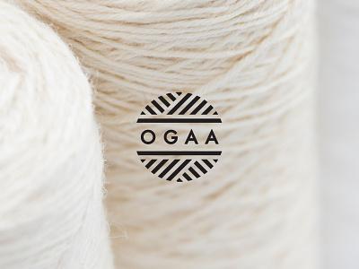 OGAA logo design knitted knit knitting branding brand logo design minimal