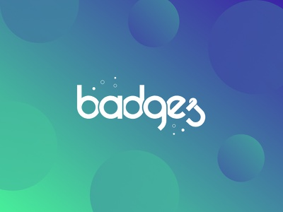 Badges minimal logo gradient flat circle badges