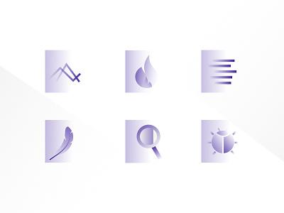 Thundra Feature Icons illustrations monitor data gradient minimal icon