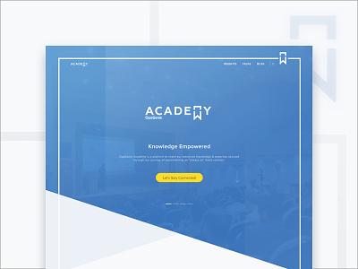 Academy line academy minimal uiux page web