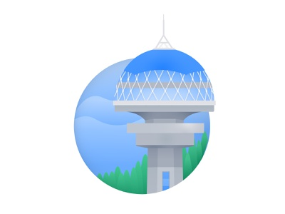 "Ankara's tower ""Atakule"" brand design illustration vector ankara logo city minimal"