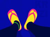 穿拖鞋的我/I wear slippers