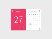 My Birfday Calendar