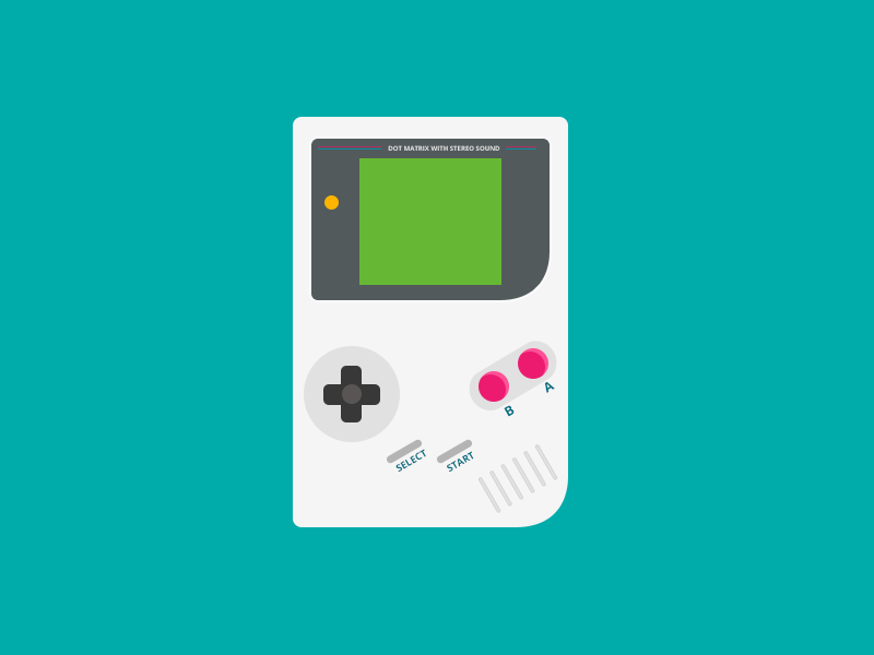 Gameboy (Free PSD) contest rebound blue gameboy games controls old school 1990s green pink orange flat icon free freebie psd psddd