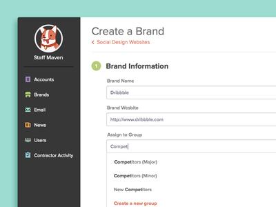 Add a Brand to Staff Maven