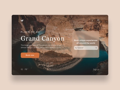 Landing page design design