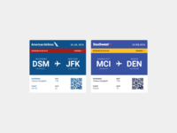 Daily UI 024 :: Boarding Pass :: Airlines