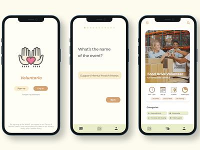 Voluntaria uxdesign ui ux design app