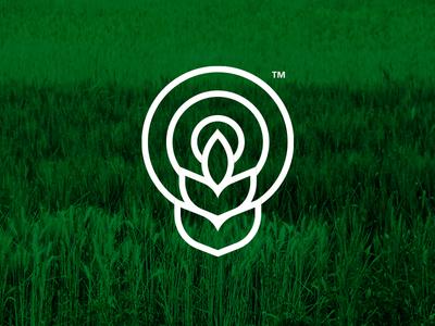 Logomark nepal process concept design logo green nature seeds agriculture farm farmers market farming
