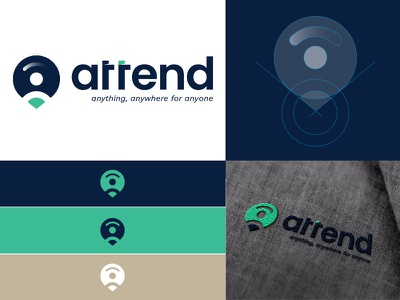Attend Brand Identity Design logo designer in nepal idea nepali branding rokaya logo designer nepali design process logodesign mockup grids app attend