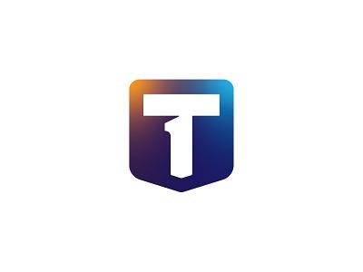 T + 1 + 🛡️ = LOGO design logo idea nepali concept branding process logo designer logotype lettermark secure security shield