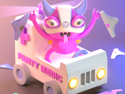 Draw Banana 2020 - PantyDebyl halloween design character illustration character design 3d modeling 3d illustration 3d artist 3d art 3d