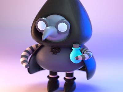 DrawBanana 2020 - Plague Purveyor halloween design character illustration character design 3d modeling 3d illustration 3d artist 3d art 3d
