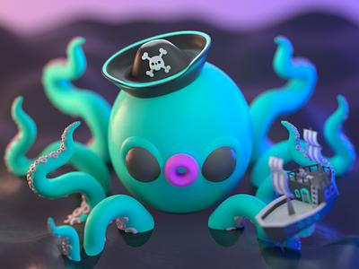 Drawlloween 2020 - Cryptid monster design character illustration character design 3d modeling 3d illustration 3d artist 3d art 3d