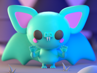 Drawlloween 2020 - Batsquatch monster design character illustration character design 3d modeling 3d illustration 3d artist 3d art 3d