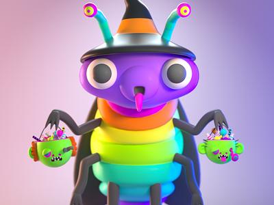 DrawBanana 2020 - CandyRoach monster design character illustration character design 3d modeling 3d illustration 3d artist 3d art 3d
