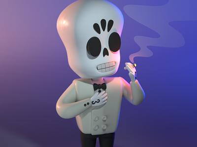 Drawlloween 2020 - Reaper toy design toy fanart grim fandango skeleton halloween design character illustration character design 3d modeling 3d illustration 3d artist 3d art 3d
