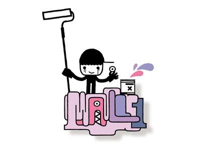 MINIMALL typography graphic mall illustration