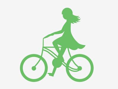 Unwanted bike vector logo element