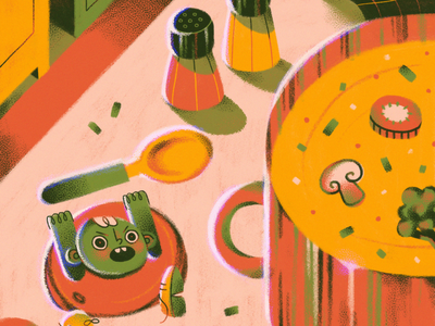 Attack to the soup women in illustration character design soup childrens book childrens illustration drawing ilustration