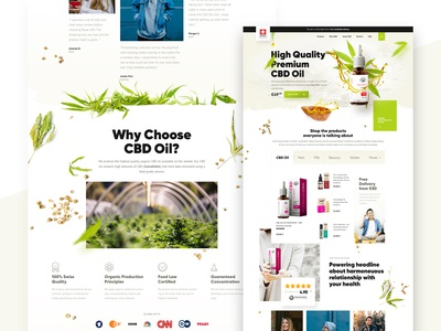 High Quality CBD Products — Landing Page