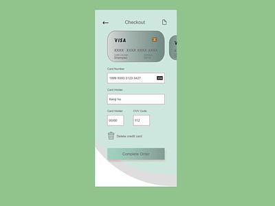 dailyui002 Credit Card Checkout by Adobe XD dailyui daily 100 challenge dailyuichallenge ui