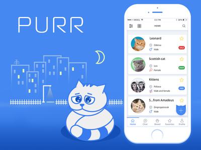 Purr App purr hello cat mobile app