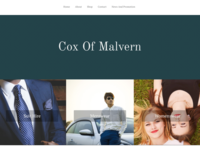 Cox Of Malvern Clothing Shop Redesign