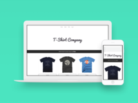 T-shirt Company Website Template