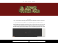 FitFactor Training Website