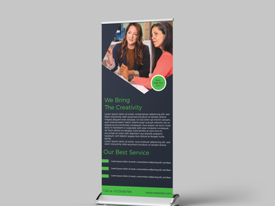Corporate roll up banner banner design logodesign resturent roll up banner graphic design typography art uiux business roll up banner branding leaflet leaflet design brand identity poster abstract logo illustration dribbble best shot agency branding typography roll up banner design roll up banner