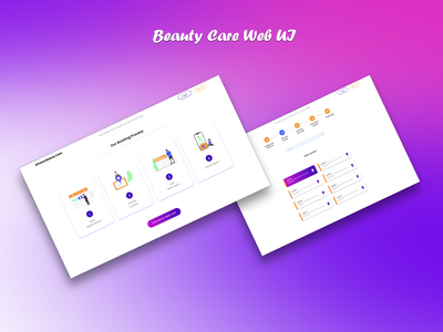 Beauty Care Web UI web illustration design ux ui